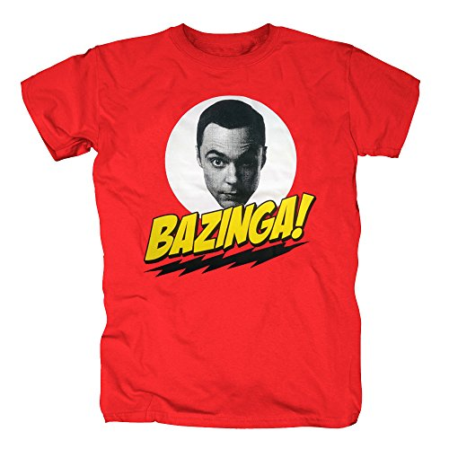 TSP The Big Bang Theory - Bazinga Sheldons Head T-Shirt Herren XL (Katze Bang Big Penny Kostüm)