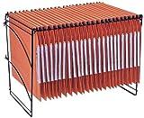 Esselte Elemento di appoggio per cartelle sospese laterale, Struttura modulare, Barra metallica, Portaetichette laterale incluso, Orgarex Kori, 99200