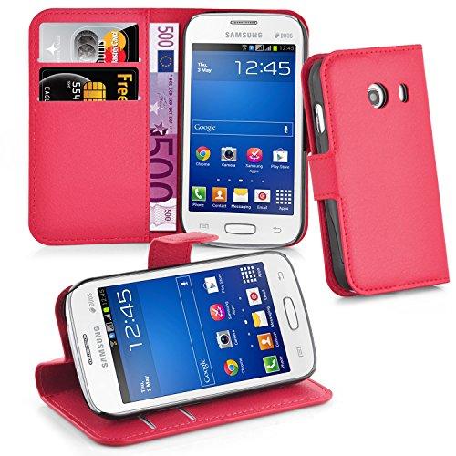 Cadorabo Hülle für Samsung Galaxy ACE Stlye in Karmin Rot