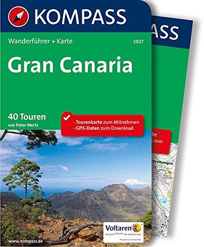 Preisvergleich Produktbild Gran Canaria: Wanderführer mit Extra-Tourenkarte, 40 Touren, GPX-Daten zum Download (KOMPASS-Wanderführer, Band 5907)