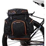 Ibera PakRak bicicleta, Bolso bolsa para bicicleta clip de liberación rápida, Alforjas bicicleta, accesorios bicicleta, Alforja Bolso Bolsa Bicicleta. (solo maleta) – IB-BA4