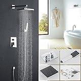 Set doccia soffione,Auralum soffione doccia rettangolare + manopola doccia + interruttore...