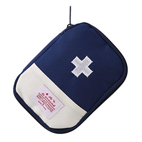 Yesiidor Erste Hilfe Tasche Leer Medizintasche Reiseapotheke Tasche Betreuertasche Notfalltasche für Familien Blau