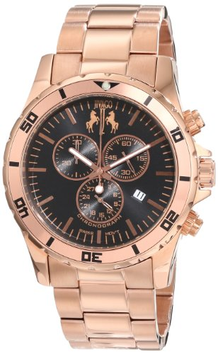 Jivago Men's Swiss Quartz Stainless Steel Casual Watch, Color:Rose Gold-Toned (Model: JV6122)
