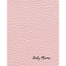 Daily Planner: Pink For Women, Girls Men 100 Days Daily Planner Journal Notebook. Space For Hourly Schedule, Tasks, Outfits, Phone calls, Meals Exercise.  Agenda Notepad