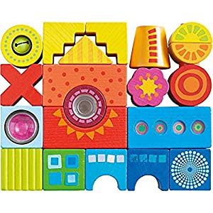 HABA 302157 21pieza(s) Bloque de construcción de Juguete - Bloques de construcción de Juguete (Multicolor, Metal, De plástico, Madera, 21 Pieza(s), Imagen, Monótono, Niño, 1,5 año(s))