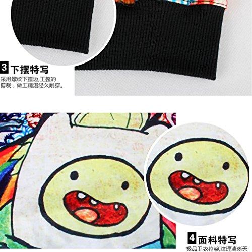 Thenice Pull à imprimé numérique pour femme Sweat-shirt - Adventure Time