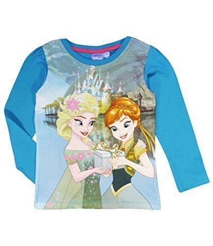 Disney frozen, maglietta blu con elsa e anna blu blue