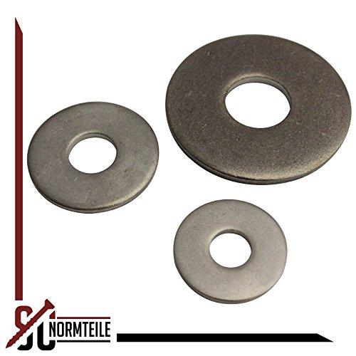 Tornillos de cabeza plana ISK ISO 7380-1 acero inoxidable A2 V2A 4 unidades