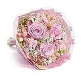 Bouquet Romantico (Rosa) Sanremo fiori essiccati dalla Riviera dei Fiori con tre rose stabilizzate …