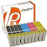 Bubprint 10 Druckerpatronen kompatibel für Epson Drucker