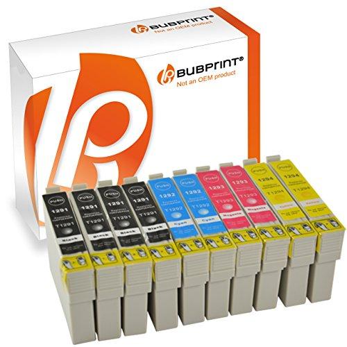 10 Bubprint® Druckerpatronen kompatibel für Epson T1291 - T1294 EPSON STYLUS OFFICE BX 305 F , BX 320 FW , BX 525 WD , BX 625 FWD EPSON STYLUS SX 420 W , SX 525 WD , SX 620 FW