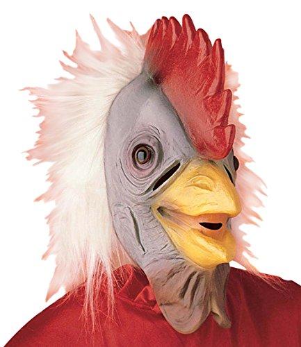 Widmann Huhn Gummi Maske aus Latex