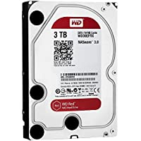Western Digital WD Red HDD Interno, 3000 GB, SATA III, 6000 Mbit/s, 5400 rpm, 64 MB, Display 3.50 Pollici