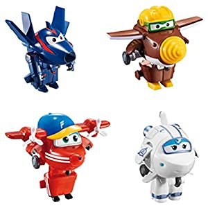 Super Wings - Lote 4 Super Wings transformables: Astra, Flip, Todd y Chace (ColorBaby 85219)