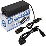 P.I. Auto Store Power Converter / Adapter / Transformer - NEW IMPROVED - Mains 240V AC to 12V DC Cigarette Lighter Socket. Rated to 10 amp (Max 15A). SAFE - Conforms to BS and EU Standards