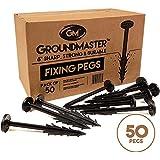 Groundmaster – Piquets de fixation de jardin en forme de U 150mm– Idéal pour couverture polaire, tissu de contrôle des mauvaises herbes, membrane, bâche, tapis de sol et filet