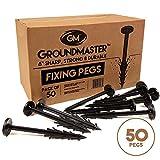 Groundmaster 15,2cm Garden pioli–Stabilizzato UV anti-pull picchetti di fissaggio perfetto per pile, rivestimento in tessuto per pacciamatura, membrane, teloni, reti e copertura del suolo (50)