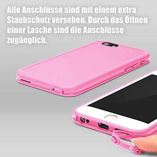 Original Urcover® Touch Case für das Apple iPhone 6 / 6s Hülle Cover Schutz für Vorder- und Rückseite Handyhülle mit Displayschutz [deutscher Fachhandel] Etui Schwarz/Schwarz Pink/Weiß