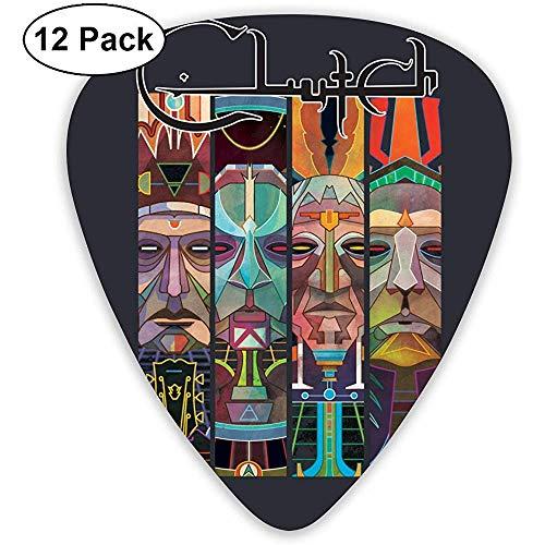 Clutch Band Plektren für E-Gitarre, Akustikgitarre, Mandoline und Gitarrenbass