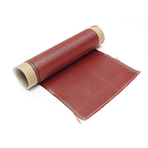 ExcLent Tissu Hybride Rouge D'Armure De Tissu De Tissu De Fibre De Carbone Rouge De 1M 3K 200G De Haute Résistance Pour La Réparation De Construction De Pont - 60cm