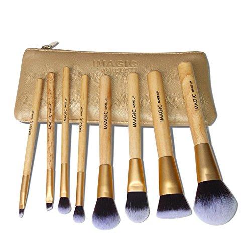 Lorjoy IMAGIC 8PCS Teint Poudre Fards Sourcils Correcteur Brosse cosmétiques Kit Visage Coloring Uniformément Brosse de Maquillage