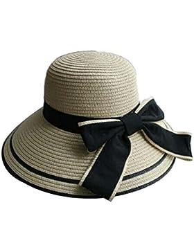 Verano Sombrero Sombrero De Paja Para Mujer Tejido A Mano Sombrero De Sun De Ala Ancha Protegiéndose Los Sombrero...