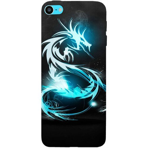Casotec Dragon Design Hard Back Case Cover for Apple iPod Touch 6th Generation