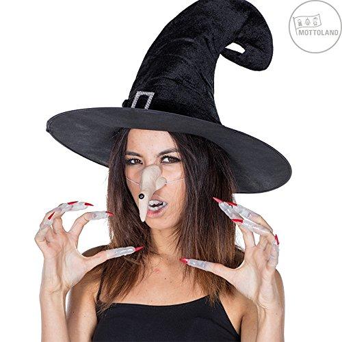 chleuchtend * Kostüm Zubehör von Mottoland * Halloween * Nase, Nägel, Gebiss ()