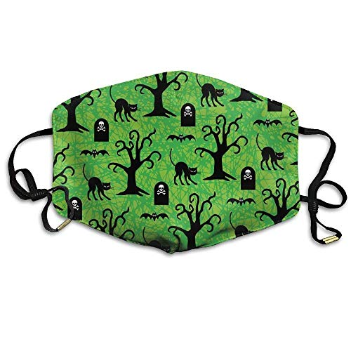 ck Cats And Spooky Trees Washable Anti-Pollution Mouth-Muffle Masks Mouth Face Masks ()