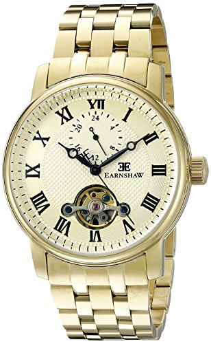 Thomas Earnshaw Men's ES-8042-22 Westminster Analog Display Automatic Self Wind Gold Watch