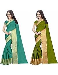 Sky Global Women's Cotton Silk Saree Combo (Sky_combo_2278)