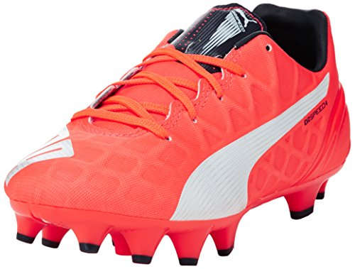 Puma - Evospeed 4.4 Fg Jr, Scarpe da calcio Unisex – Bambini Arancione (Orange (lava blast-white-total eclipse 01))