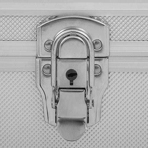 Alurahmenkoffer Werkzeugkoffer Etagenkoffer VARO + Fachbodeneinsätze abschließbar silber - 5