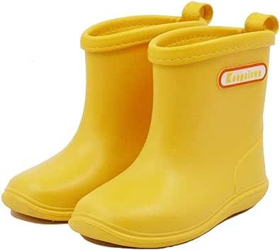 Stivali da Pioggia per Bambini Morbide Scarpe Antipioggia in PVC Resistente Impermeabile Antiscivolo Wellies Wellington per Bambini, Ragazzi e Ragazze