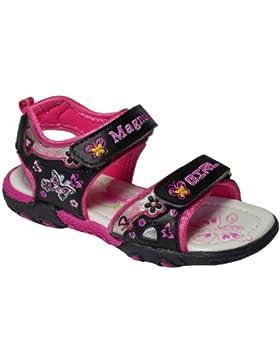 Sandaletten für Mädchen, schwarz/pink, Gr. 22-30
