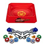 #4: Civil 4D 8 in 2 Beyblades Metal Fighter Fury with Metal Fight Ring and Handle Launcher with Big Bey Stadium Arena