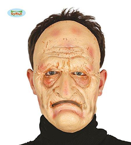 n Maske Halbmaske für Erwachsene Karneval Fasching Party Opa (Alter Mann Falten Halloween)