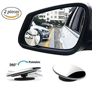 AutoCare Totwinkel-Spiegel, konvex und verstellbar, Seiten-/Rückpiegel, Sicherheitszubehör mit Blendschutz, 2 Stück.