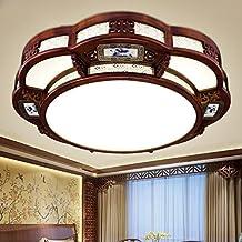 Chinesische Antike Hölzerne Decken Lampe Wohnzimmer Lampe Keramische Lampe  Sitzungsraum Lampe Hölzerne Decken