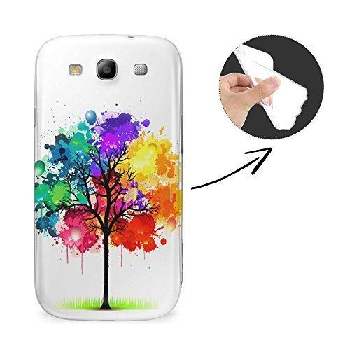 FINOO Fantasia Samsung SILICONE - Colorato Albero, Samsung S3 Neo