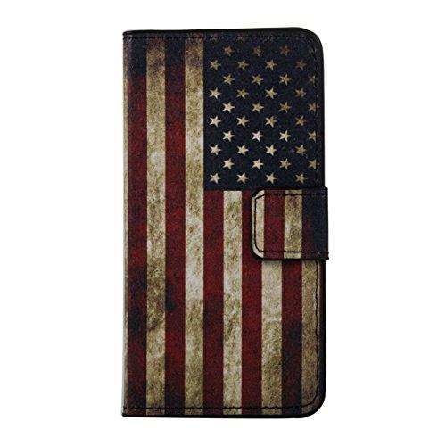AYASHO® iPhone SE / 5s / 5 Hülle - Hohe Qualität Gemalt PU Kunst Lederhülle Tasche Hülle Kunstleder Flip Case Tasche Etui Schutzhülle für iPhone SE / iPhone 5 / iPhone 5S (A13) A14