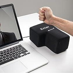 Yogogo Puissance USB Big Touche EntréE Bureau Bureau Nap Oreillers Soulager Le Stress D'AéRation Outils Soulager Le Stress (Black)