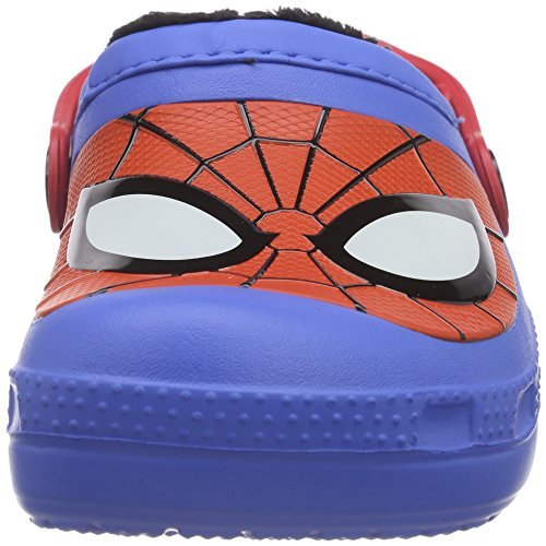Crocs Cc Spiderman Lined, Sabots Mixte Enfant Bleu (Varsity Blue)