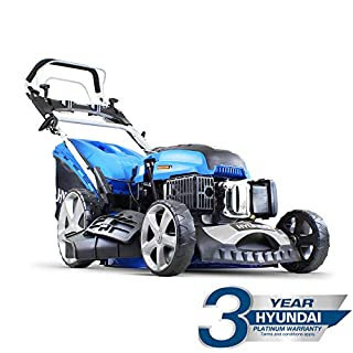 Hyundai HYM510SPE 173 cc Self Propelled Electric Push Button Start Petrol Lawn Mower, Blue