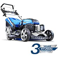 Hyundai HYM510SPE 173 cc Self Propelled Electric Push Button Start Petrol Lawn Mower, Blue