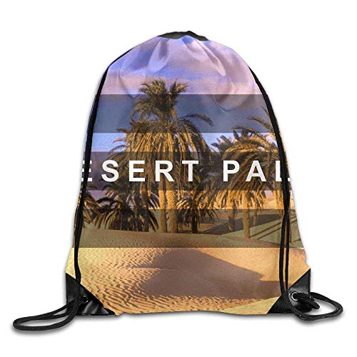 KIMIOE Turnbeutel Hip Hop Large Drawstring Bucket Bag Backpack Desert Palm 2017 New Arrival2 Art Design 3D Print Large Drawstring Bucket Bag Backpack Rucksack Shoulder Bags Gym Bag