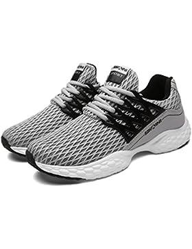 SIKAINI Unisex Laufschuhe Turnschuhe Lace-ups Sport Lässige Breathable Mesh Leichtgewicht Outdoor Athletic Footwear