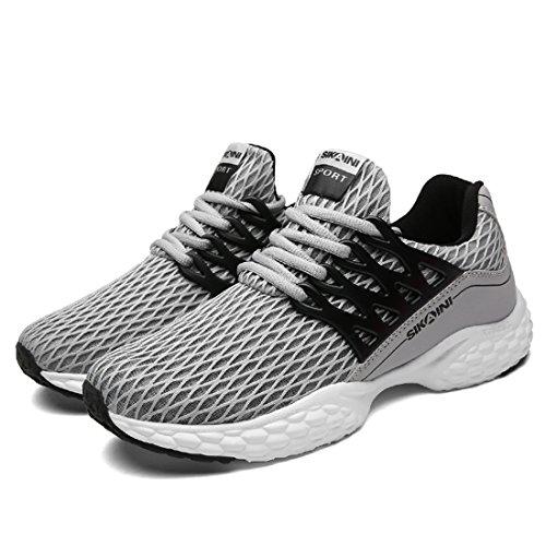 HUSK'SWARE Unisex Laufschuhe Turnschuhe Lace-ups Sport Lässige Breathable Mesh Leichtgewicht Outdoor Athletic Footwear Grau