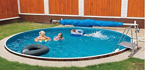 Zizy piscine Amazing al di sopra del suolo, di acciaio rotondo Swimming Pool-Piscina Satinwood, disponibili in due diverse misure
